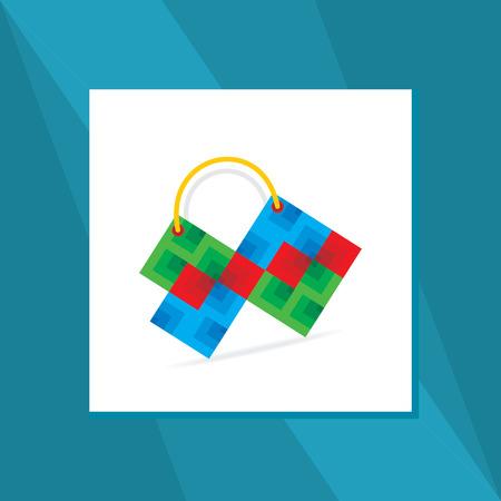 blockhead: creative hand bag vector