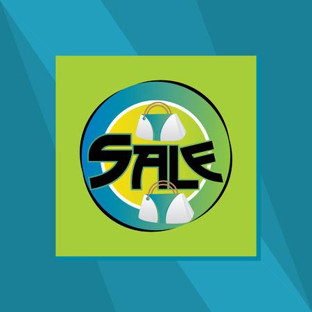 blockhead: creative sale background Illustration