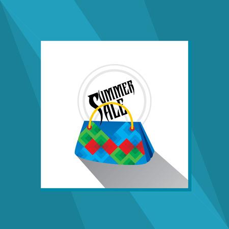 hand bag: mano venta bolsa de verano Vectores