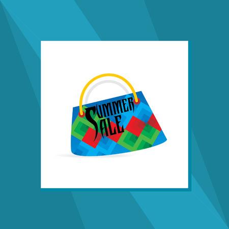 hand bag: mano concepto de venta bolsa de verano Vectores
