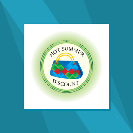 blockhead: hot summer hand bag sale concept Illustration