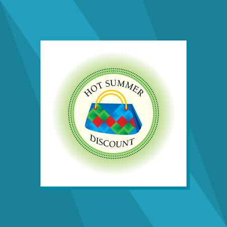 hot summer hand bag sale concept Illustration