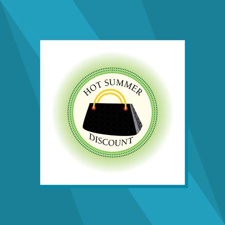 hand bag: hot summer hand bag sale concept Illustration
