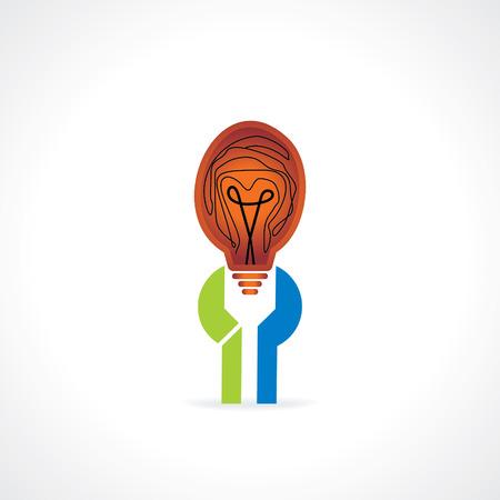 caring: spanner caring bulb idea vector