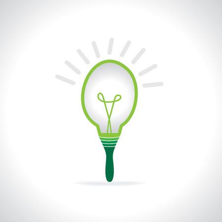 creative bulb connecting brush Ilustração