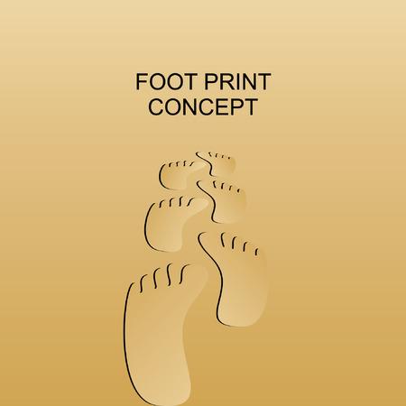 sand background: foot print sand background