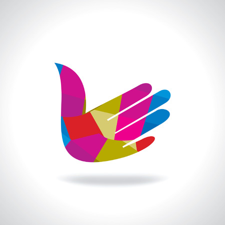 left hand: left hand business deal icon