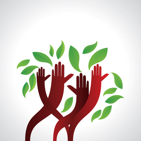 hands appeal save green concept Illustration