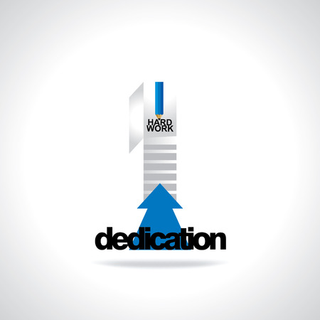dedication: door with stairs dedication concept Illustration