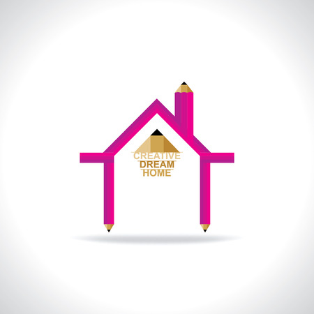 home concept: dream home concept making pencil