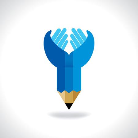 soins mains: concept de soins de la main au crayon