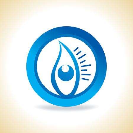 ojo azul: ojo azul dentro del c�rculo Vectores
