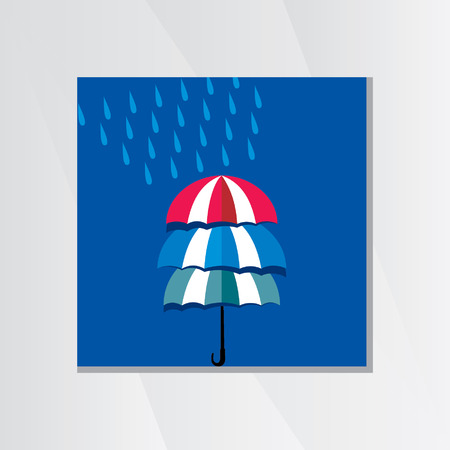 the season: creative colorful umbrella rainy season Illustration