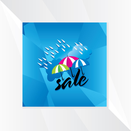monsoon: monsoon sale with cloud and umbrella