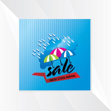 Monsone vendita con nuvole e ombrello Archivio Fotografico - 42059821