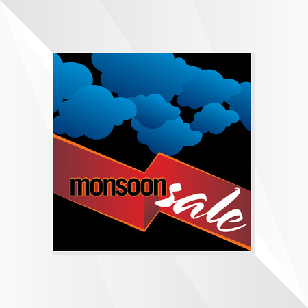 monsoon: monsoon sale with cloud background Illustration
