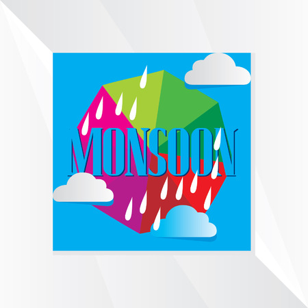 monsoon: monsoon with colorful cloud