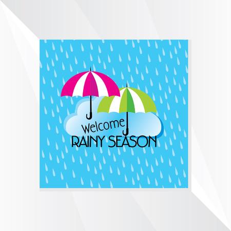 the rainy season: rainy season vector