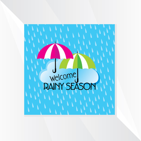 the season: rainy season vector