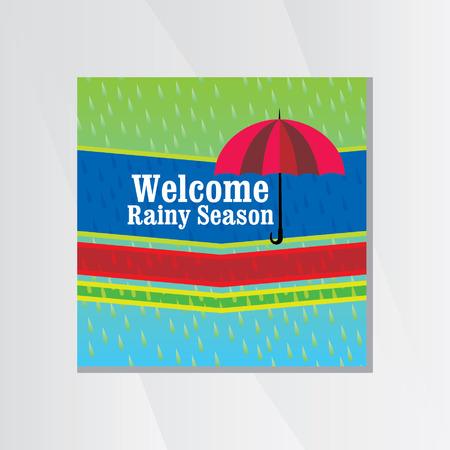 the season: welcome rainy season background Illustration