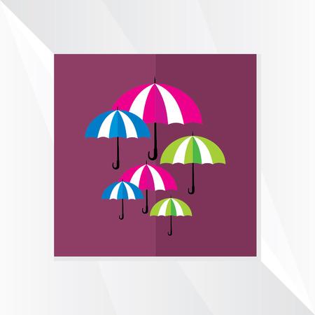 rainy season: colorful umbrella rainy season