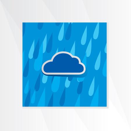 rain drop: cloud with rain drop Illustration