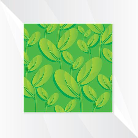 leaf background: creative green leaf background Illustration