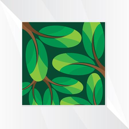 nature backgrounds: creative leaf green background Illustration