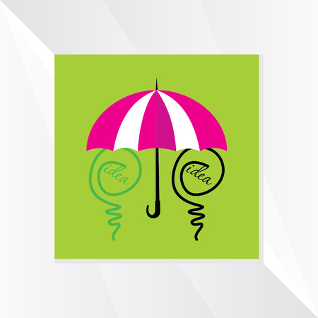 green bulb: green bulb idea care with umbrella