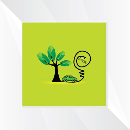 globalwarming: green energy idea with car