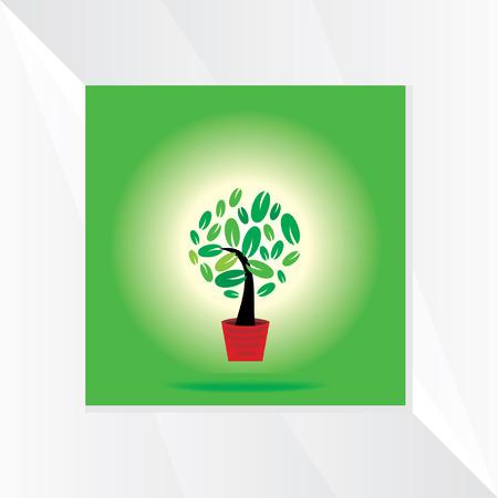 small tree: small tree pot vector