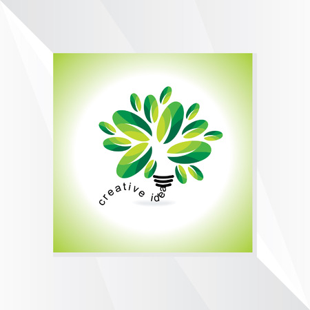 green bulb: creative green bulb vector