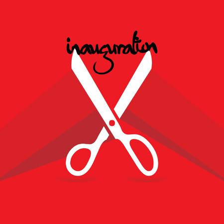 inauguration: inauguration vector with scissor