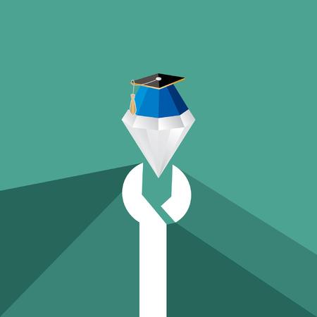 mechanical engineer: mechanical engineer diamond with degree vector