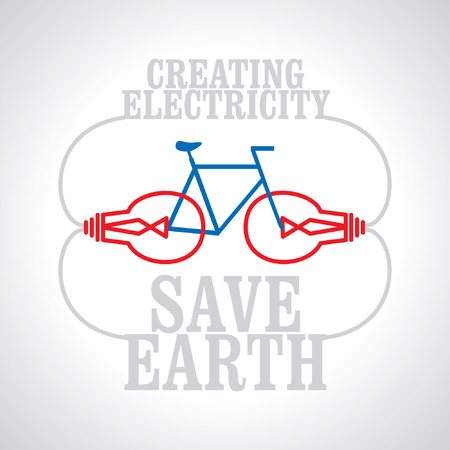 save the earth: creating electricity with bicycle save earth