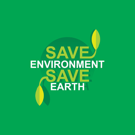 save environment save earth concept