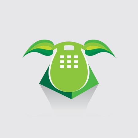 telephone receiver: telephone receiver like green leaf eco friendly