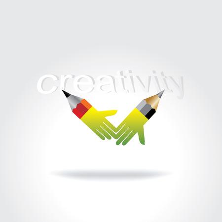creativity concept: pencil creative art creativity concept Illustration