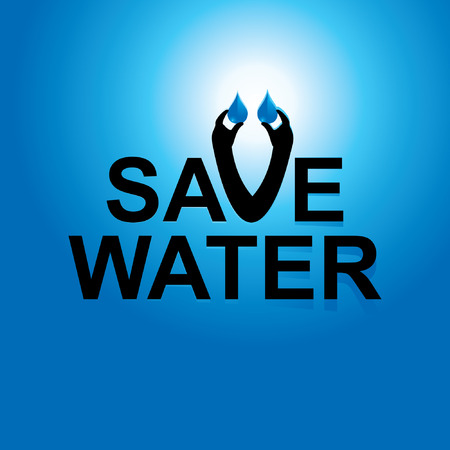 water concept: save water concept