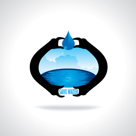 water concept: save water concept idea save earth