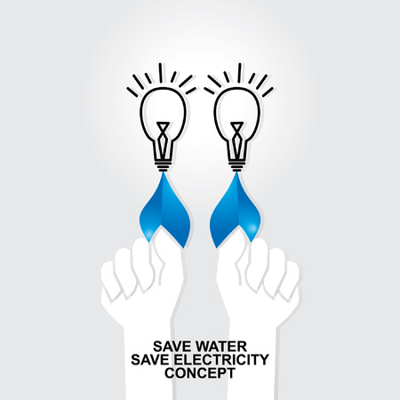 save water save electricity concept