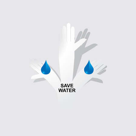 appeal: standing hands appeal for save water paper color