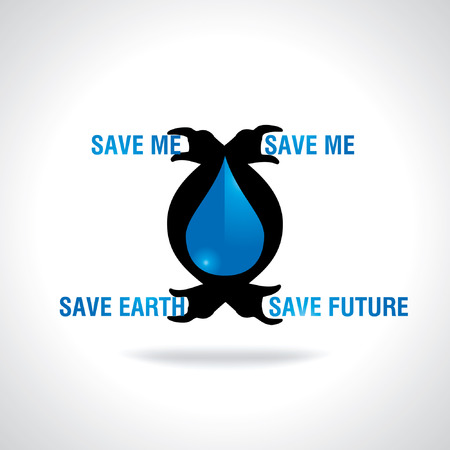 appeal: water drop appeal for save me save earth and future