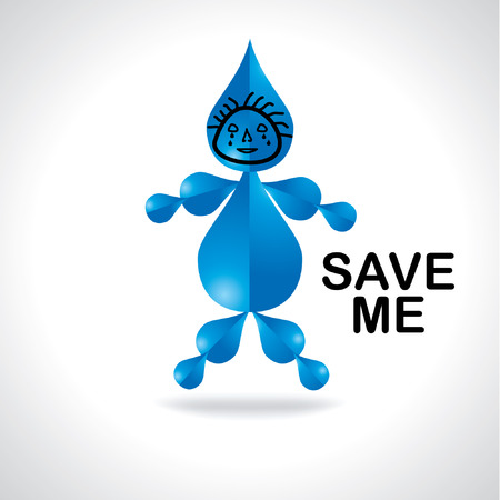appeal: water drop human appeal save me
