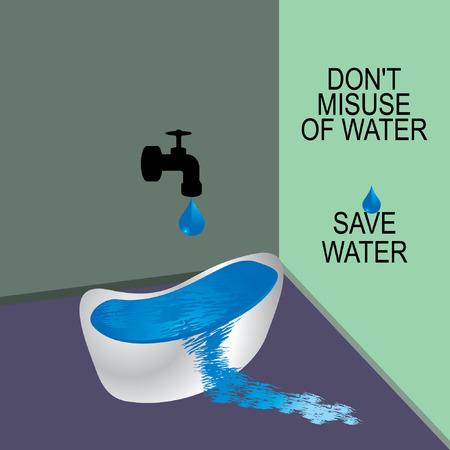 water concept: save water concept idea vector