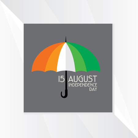 tricolor: independence day tricolor umbrella vector