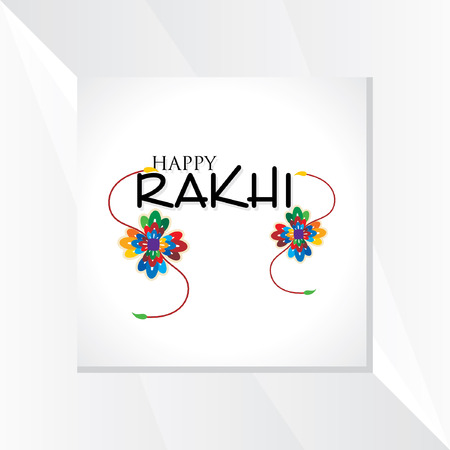 tied girl: raksha bandhan festival concept vector Illustration