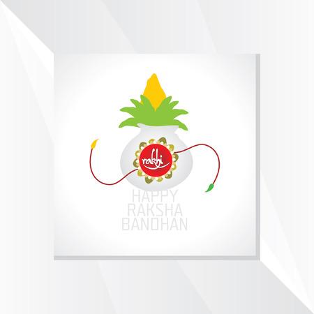 raksha: Bandhan Raksha Festival concetto vettore