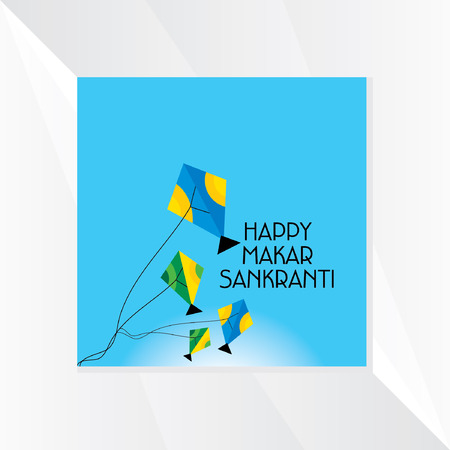 flying kite: makar sankranti concept vector Illustration