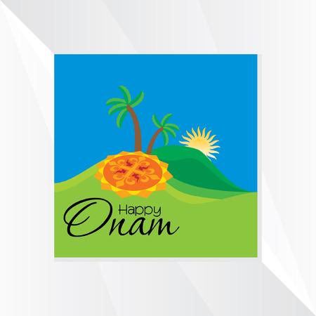 malayalam: onam festival vector illustration
